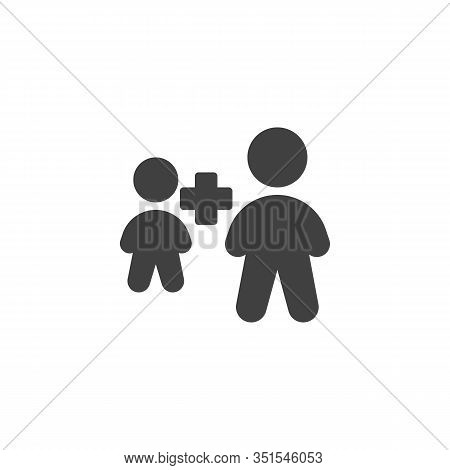 Employee Plus Vector Icon. Two People Plus Filled Flat Sign For Mobile Concept And Web Design. Human