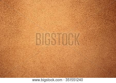 Chamois Texture, Light Brown Suede. Shabby Leather Background, Natural Skin Pattern. Rough Fabric Su