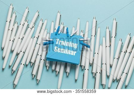 Concept Of Business Meeting With Seminar And Training. Professional Congress And Learning.