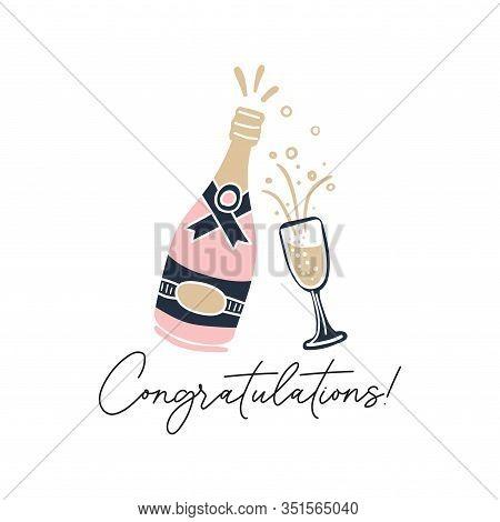 Congratulations Hand Drawn Greeting Card