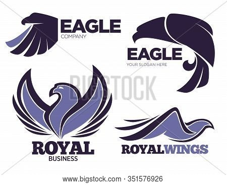 Eagle Birds Collection, Emblems And Logo Of Company