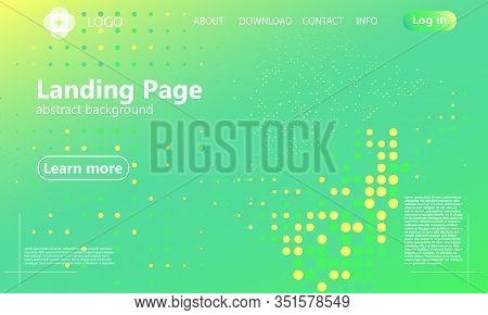 Green Background. Abstract Vector. Website Landing Page. Minimal Abstract Cover Design. Creative Col