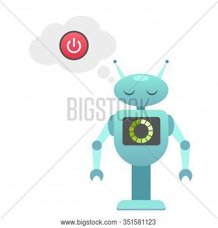 Bead Battery Robot, Off Robot, Recharging Robo, Robo Is Charging, Smart Machine, Mechanic Constructi