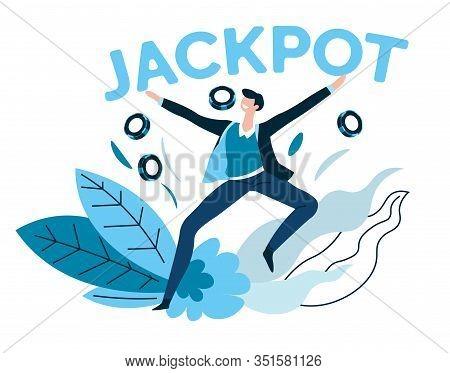 Winner, Jackpot And Casino Gambling Games, Poker Chips