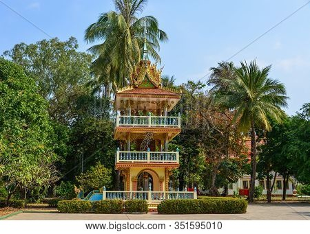 Ancient Buddhist Pagoda In Vientiane, Laos