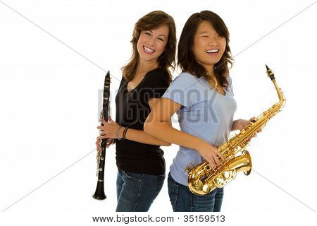 Friends with instruments