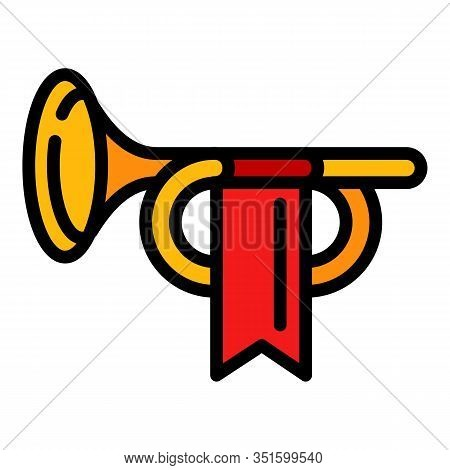 Royal Trumpet Icon. Outline Royal Trumpet Vector Icon For Web Design Isolated On White Background