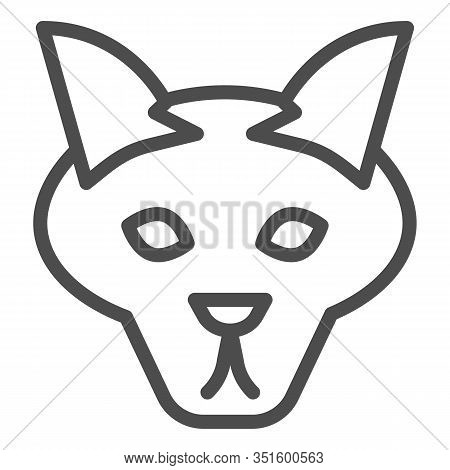 Wolf Head Line Icon. Coyote, Wild Animal Face, Simple Silhouette. Animals Vector Design Concept, Out