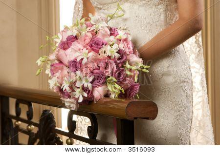 Bridal Rose Flower Bouquet Landscape