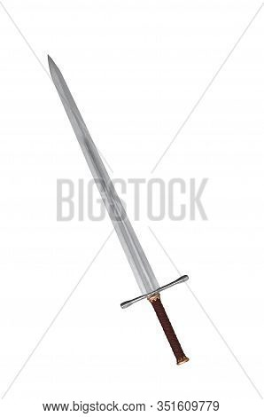 Single Sword Isolated On A White Background