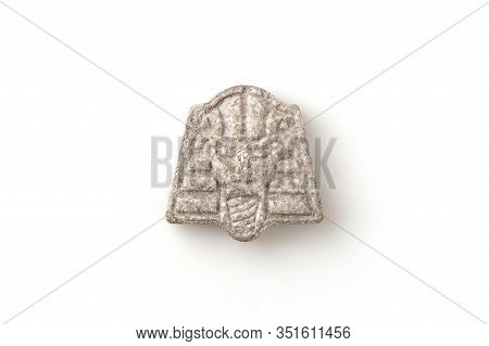 Ecstasy, Mdma, Molly, E, Xtc Pill On White Background With Clipping Path.