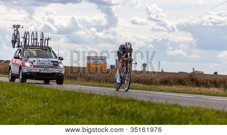 The Spanish Cyclist Zubeldia Haimar
