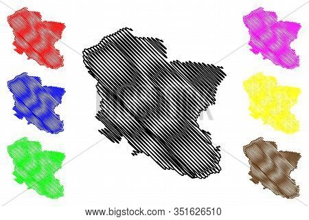 Branicevo District (republic Of Serbia, Districts In Southern And Eastern Serbia) Map Vector Illustr