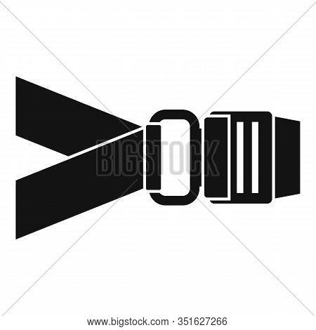 Prevention Seatbelt Icon. Simple Illustration Of Prevention Seatbelt Vector Icon For Web Design Isol