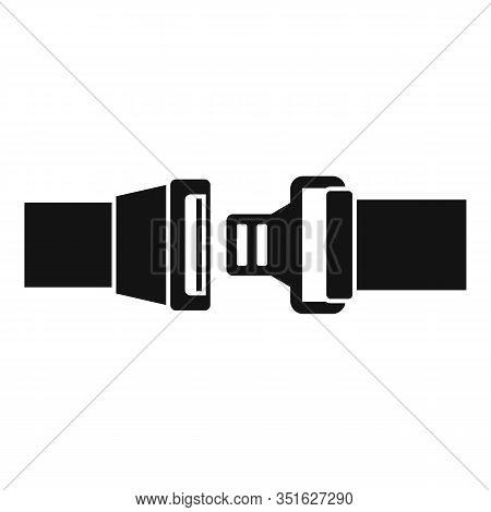 Auto Seatbelt Icon. Simple Illustration Of Auto Seatbelt Vector Icon For Web Design Isolated On Whit