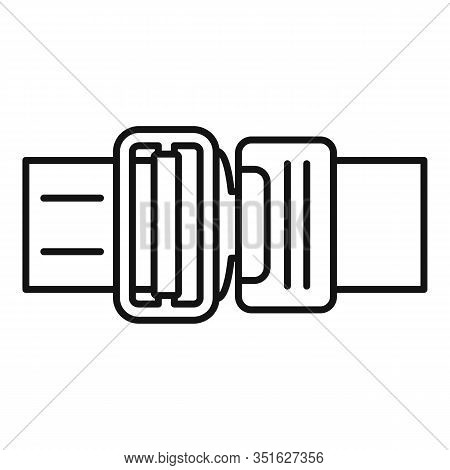 Seatbelt Icon. Outline Seatbelt Vector Icon For Web Design Isolated On White Background