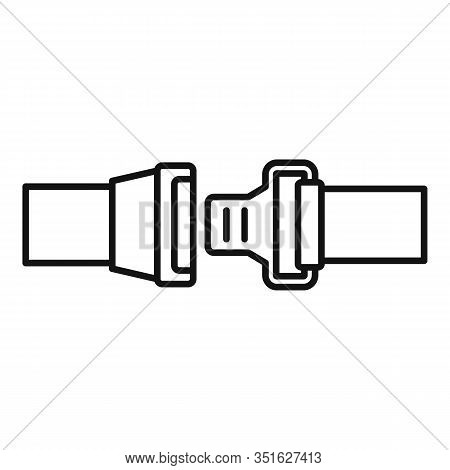 Safe Seatbelt Icon. Outline Safe Seatbelt Vector Icon For Web Design Isolated On White Background