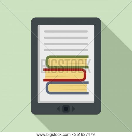 Ebook Icon. Flat Illustration Of Ebook Vector Icon For Web Design