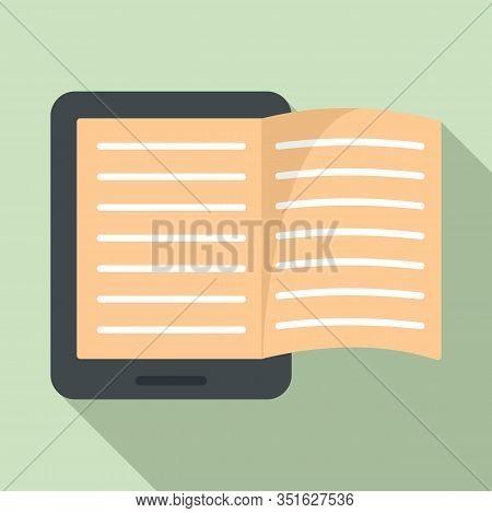 Magazine Ebook Icon. Flat Illustration Of Magazine Ebook Vector Icon For Web Design