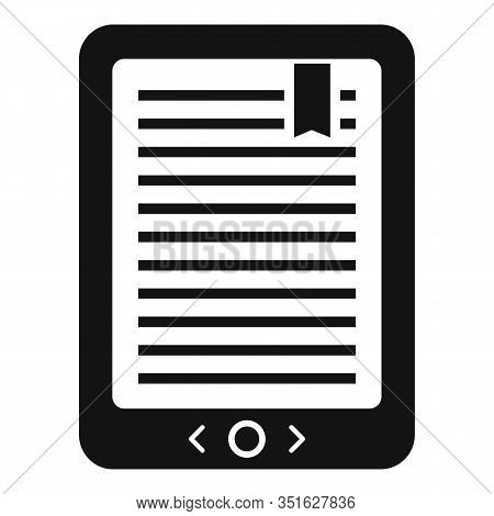 Mobile Ebook Icon. Simple Illustration Of Mobile Ebook Vector Icon For Web Design Isolated On White