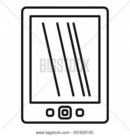 Cloud Ebook Icon. Outline Cloud Ebook Vector Icon For Web Design Isolated On White Background