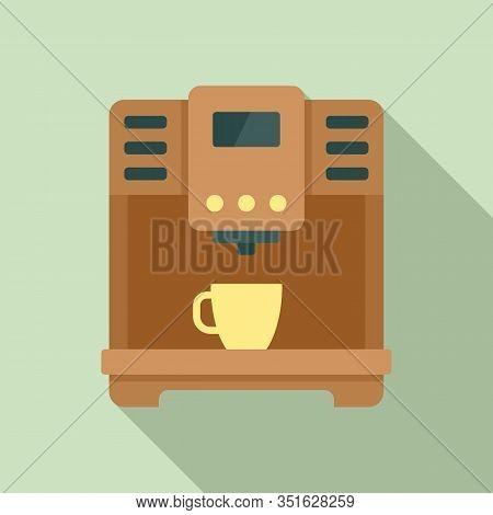 Americano Coffee Machine Icon. Flat Illustration Of Americano Coffee Machine Vector Icon For Web Des