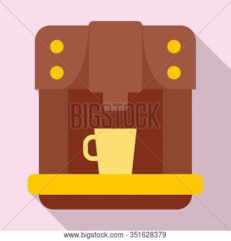 Commercial Coffee Machine Icon. Flat Illustration Of Commercial Coffee Machine Vector Icon For Web D
