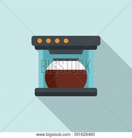 Automatic Coffee Machine Icon. Flat Illustration Of Automatic Coffee Machine Vector Icon For Web Des