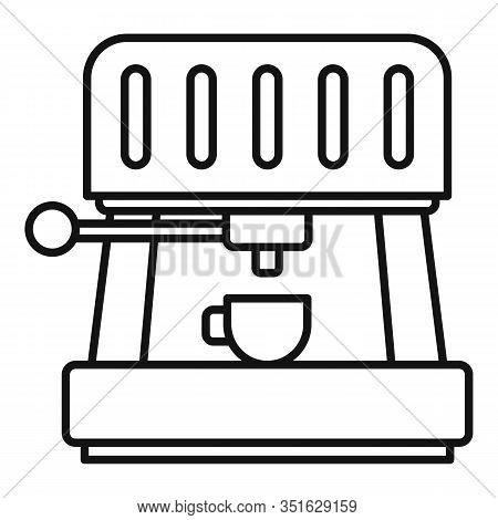 Americano Coffee Machine Icon. Outline Americano Coffee Machine Vector Icon For Web Design Isolated