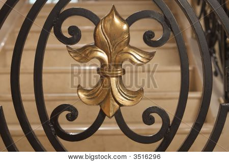 Fleur De Lis Golden Ornament