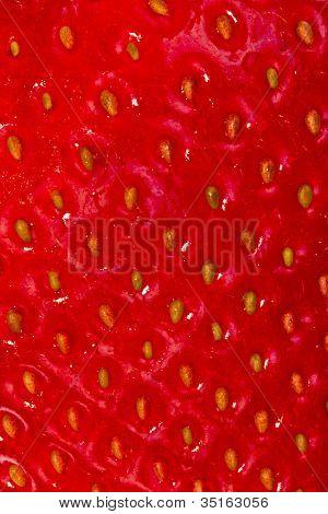 Erdbeere Hautstruktur