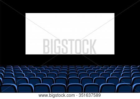 Hall For Watching Movies. Cinema. Concert Hall. Vector 3d Illustration