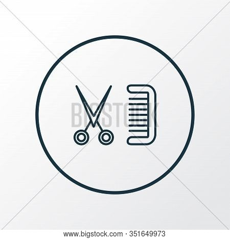 Barbershop Icon Line Symbol. Premium Quality Isolated Coiffure Element In Trendy Style.