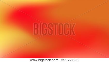 Red Yellow Pink Tropical Gradient Background. Dreamy Neon Bright Trendy Wallpaper. Fluorescent Noble