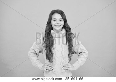 Just Wear It. Childhood And Girlhood. Child In Casual Winter Fashion Style. Pure Beauty Of Baby Girl