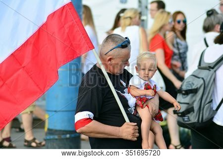 Warsaw, Poland. 1 August 2018. The Celebration Of The Anniversary Of The Warsaw Uprising. Roman Dmow