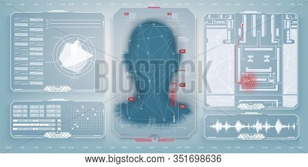 Biometric Identification Or Recognition System Of Person. The Facial Recognition Technology. Authent