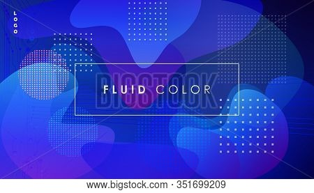 Abstract blue futuristic neon lights background. Science Neon Blue Fluid Color Motion Gradient thermodynamics, quantum analytical dynamics, chemical equilibrium, biophysical, physics, ice wavy banner