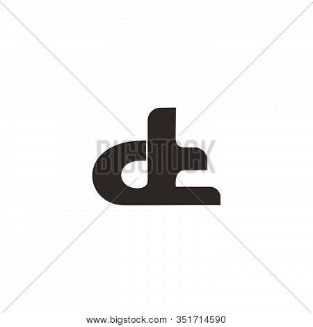 Letter D T Symbol Motion Curves Simple Design Logo Vector