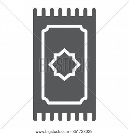 Prayer Rug Glyph Icon, Ramadan And Islam, Prayer Carpet Sign, Vector Graphics, A Solid Pattern On A
