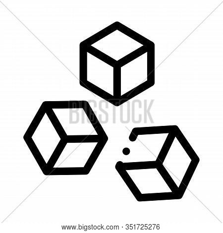 Refined Sugar Icon Vector. Outline Refined Sugar Sign. Isolated Contour Symbol Illustration
