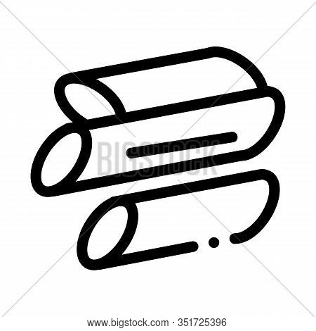 Sliced Canes Icon Vector. Outline Sliced Canes Sign. Isolated Contour Symbol Illustration