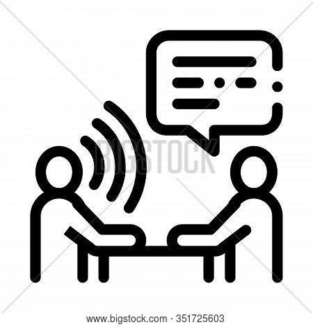 Speech Therapy Icon Vector. Outline Speech Therapy Sign. Isolated Contour Symbol Illustration