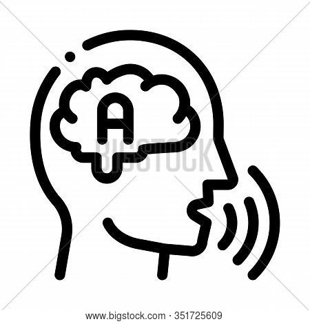 Thinking Out Loud Icon Vector. Outline Thinking Out Loud Sign. Isolated Contour Symbol Illustration