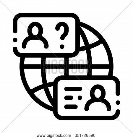 World Aid Forum Icon Vector. Outline World Aid Forum Sign. Isolated Contour Symbol Illustration