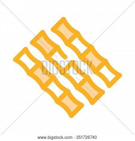 Sugar Cane Sticks Icon Vector. Outline Sugar Cane Sticks Sign. Isolated Contour Symbol Illustration