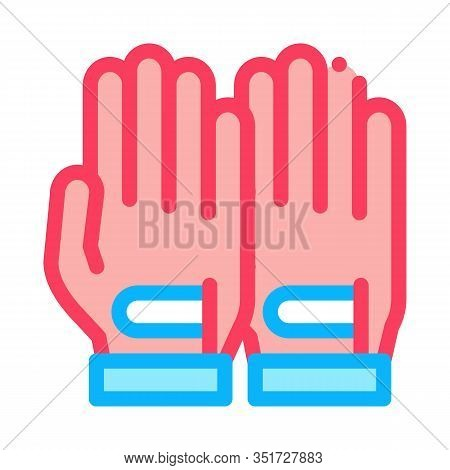 Sportive Gloves Icon Vector. Outline Sportive Gloves Sign. Isolated Contour Symbol Illustration