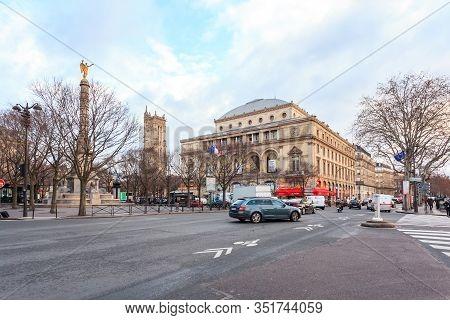 Paris, France - January 17, 2019: Fontaine De La Victoire In Paris