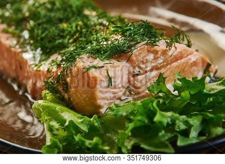 Foolproof Salmon Baked, Pat Herb Paste Fish With The Olive Oil And Scatter The Lemon