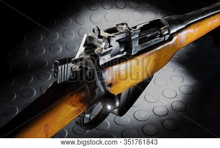Old War Surplus Rifle That Has Been Sporterized For Hunting